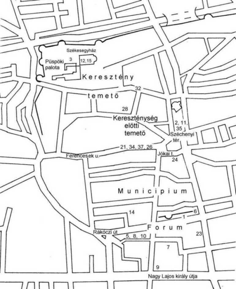 Sopianae térképe