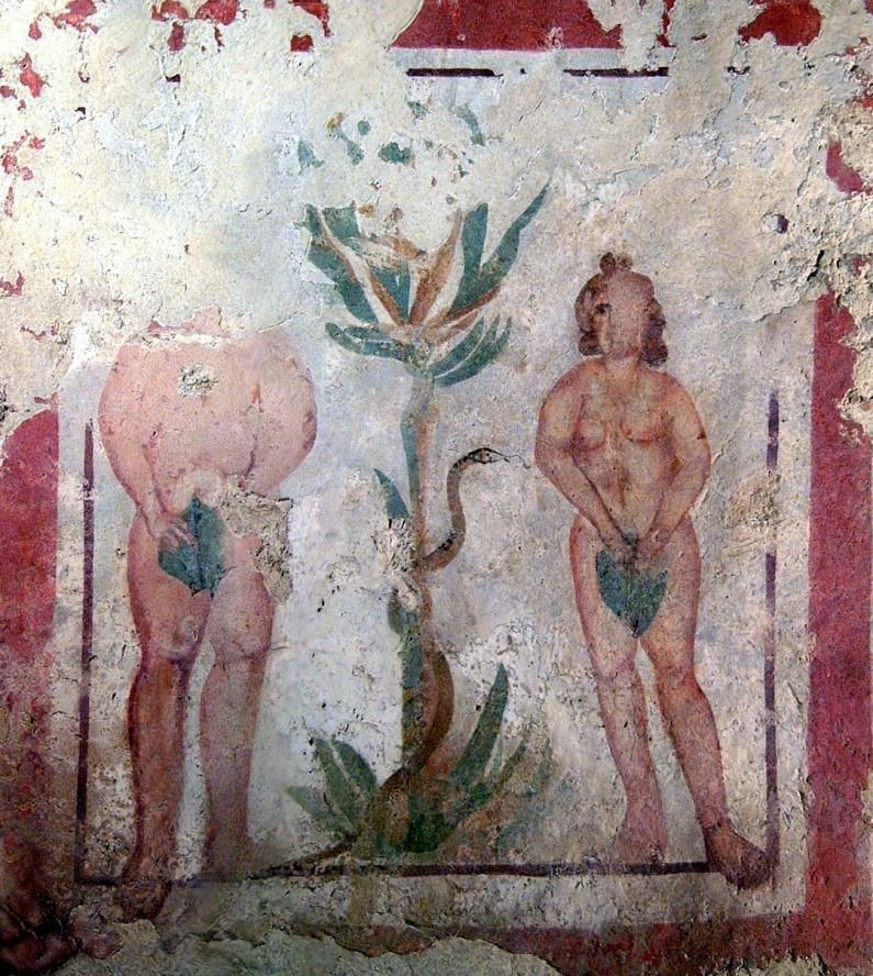 Ádám és Éva - a bűnbeesés jelenete
